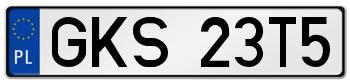 GKS rejestracja samochodu Kościerzyna