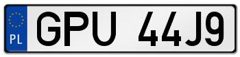 GPU rejestracja samochodu Puck