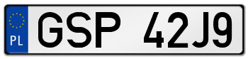 GSP rejestracja samochodu Sopot