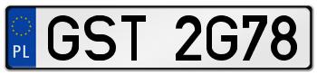 GST rejestracja samochodu Starogard Gdański