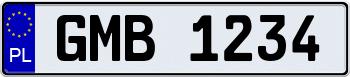 Tablica rejestracyjna Malbork GMB