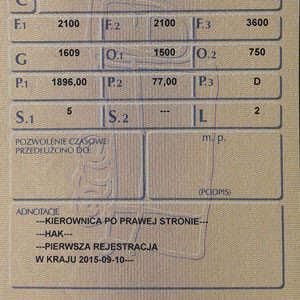 Rejestracja pojazdów z kierownicą po prawej stronie