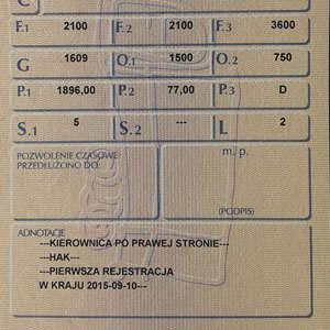 rejestracja pojazdu z kierownicą po prawej stronie dowód rejestracyjny